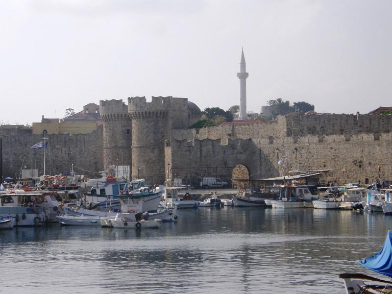 La citadelle de Rhodes