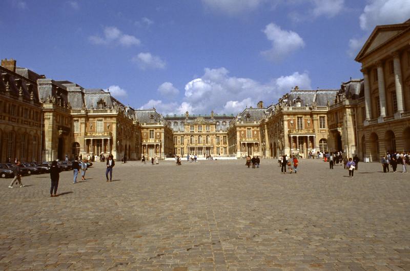La cour royale du château de Versailles