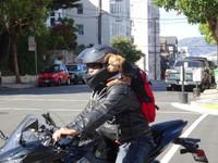 Motard et son chien