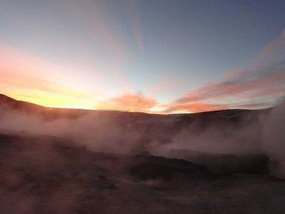 Geysers sunset