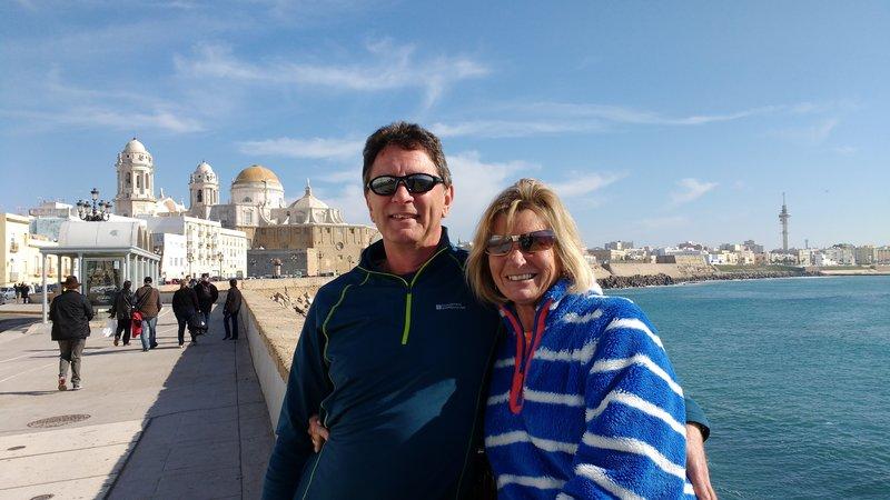 Handsome couple in Cadiz