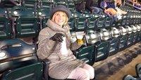 Stylish at baseball game