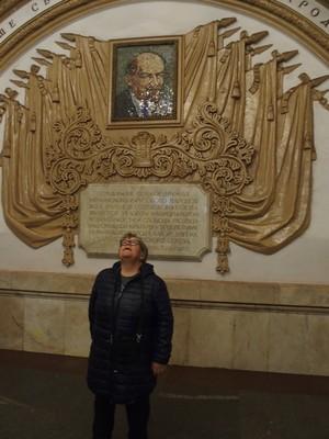 Gazing at Lenin! Moscow Metro
