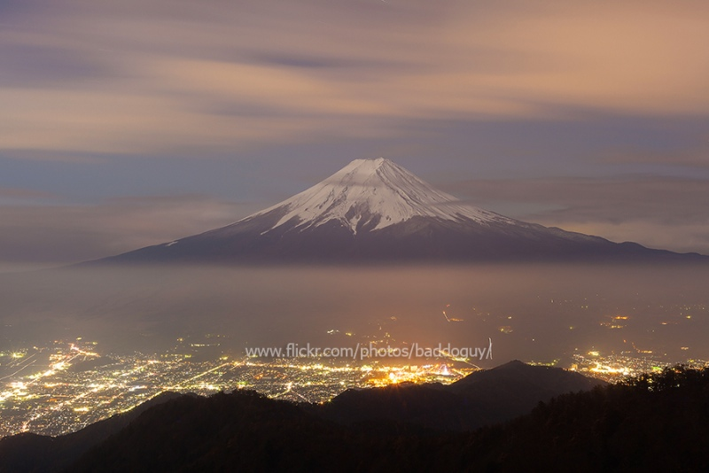 Mt Fuji under the Moonlight