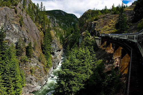 On the train to Whistler