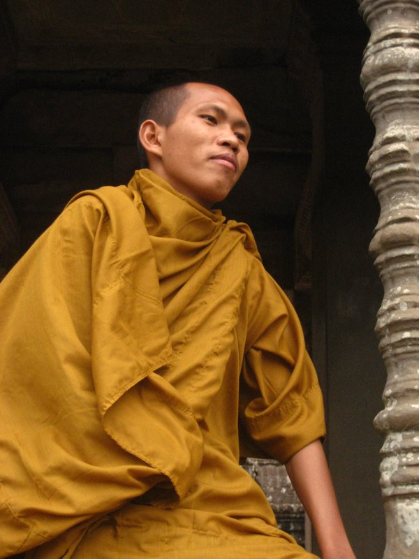 Monk at Angkor Wat