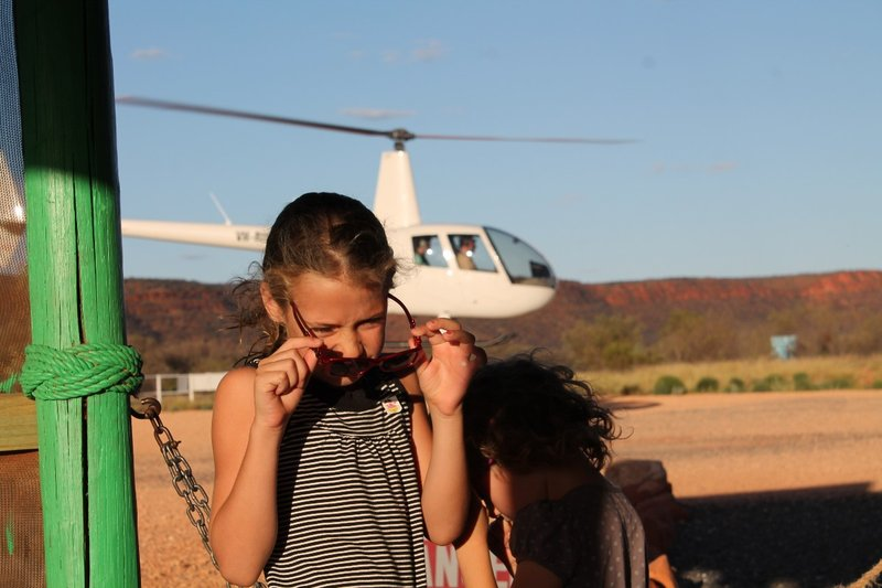 Watching the helicopter take off
