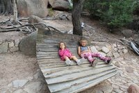Girls resting on Funky seat