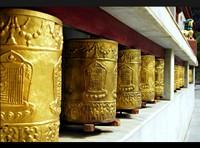 Golden Prayer Wheels