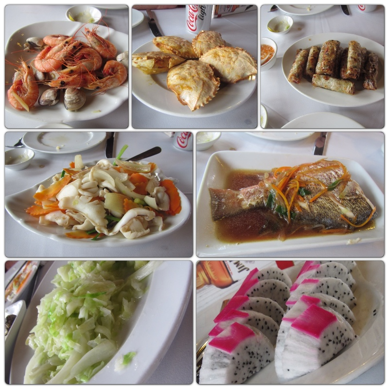 SOOO much seafood - Halong Bay Vietnam