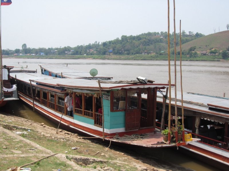 Our boat to cruise the Meekong
