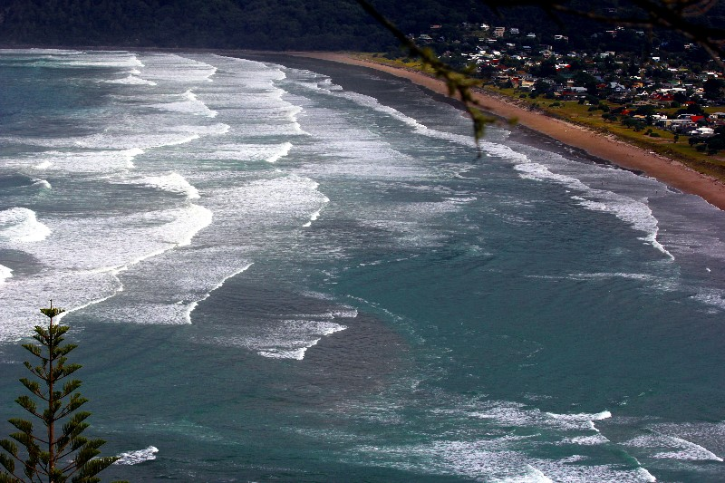 beaches looking down from mount paku