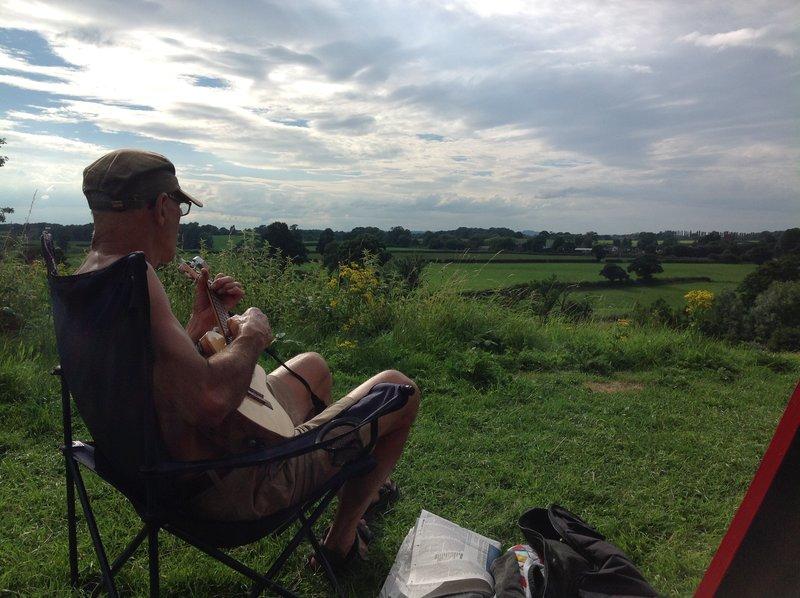 Peter relaxing near Church Minshull