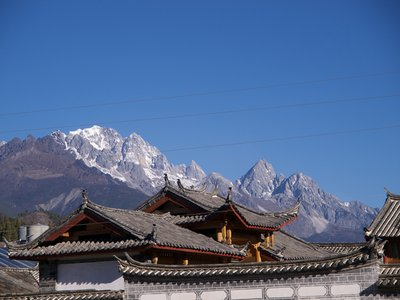 The Jade Dragon Snow Mountain and the Old Town
