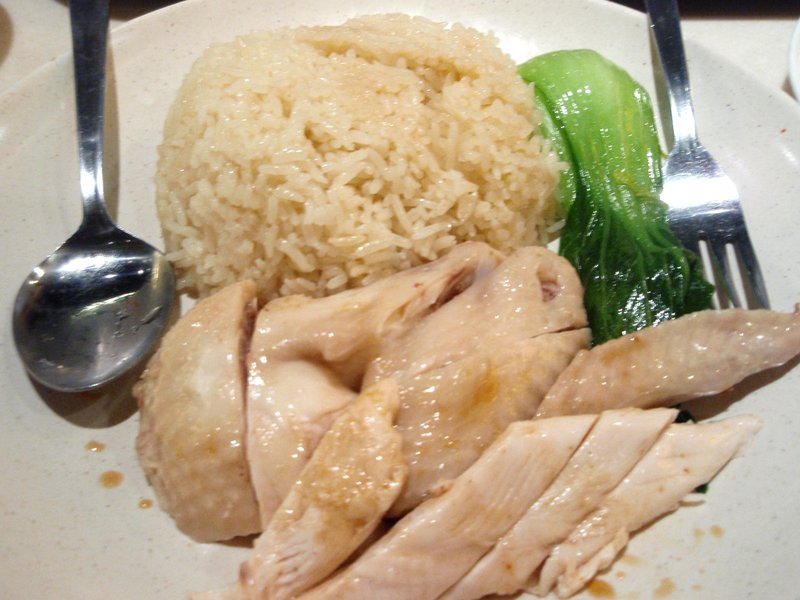 My favorite dish in Singapore Chicken Rice