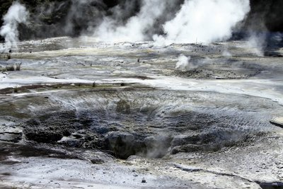 Geothermal park in Taupo