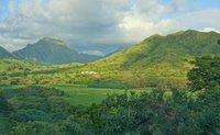Koolau Mountains from Kailua Oahu, James Brennan Molokai Hawaii
