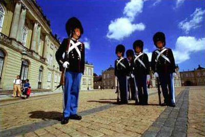 Copenhagen, Changing guards at Amalienborg Palace
