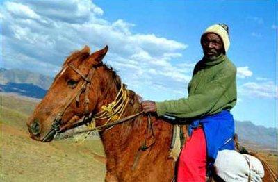 Malealea horseman