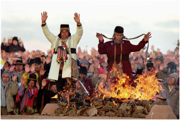 Aymara New Year celebration (Machaq Mara)