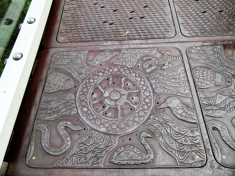 Aboriginal art federation walkway