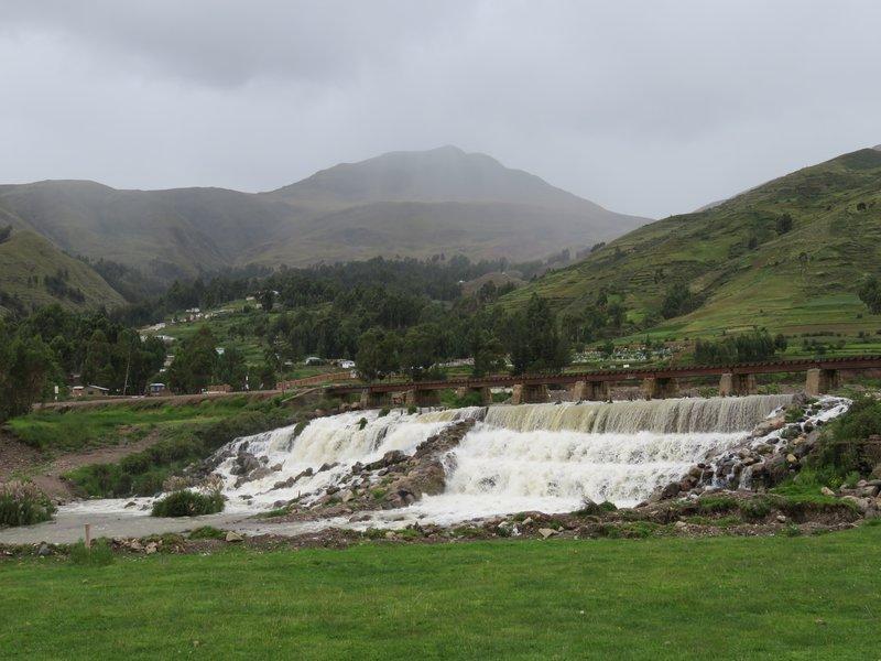 Waterfall at La Pascala Restaurant at Sicuani