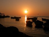 pisco_sunset boats