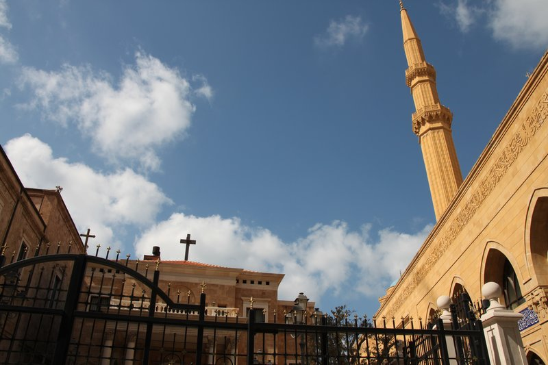 CHURCH-MOSQUE TOGETHER IN BEIRUT