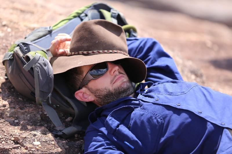 our guide jordan at nawrulandja rock lookout