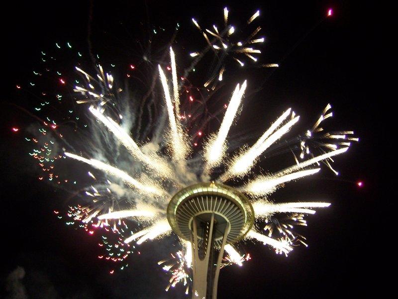firework space needle