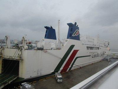 Die Camellia-Fähre fährt einmal pro Tag zwischen Fukuoka und Busan. Der teurere Hydrofoil fährt hingegen mehrmals.