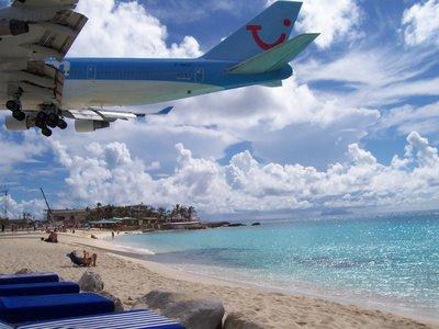 Boeing landing on Sint Maarten