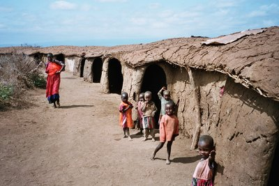 Masai village in Amboseli