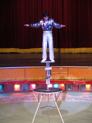 Acrobat in the North Korean circus