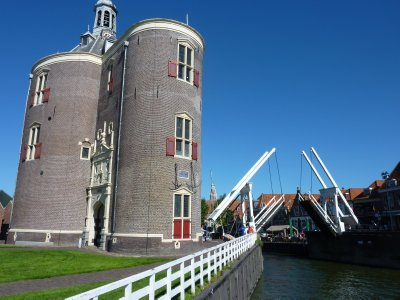 Drommedaris Tower and bridge, Enkhuizen