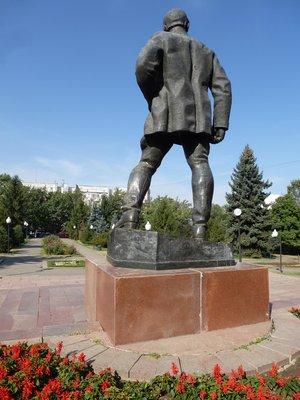 Statue in Almaty