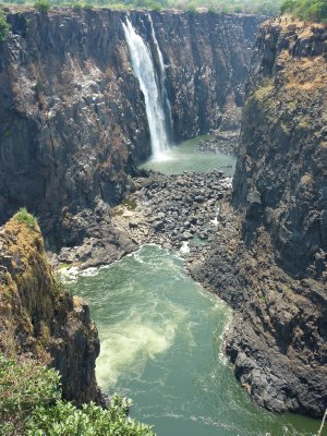 Zambian side of Victoria Falls as seen from Zimbabwe