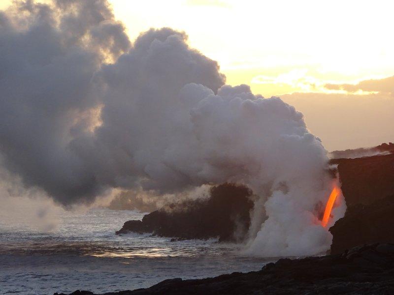Hawaii Volcanoes NP Lava flow