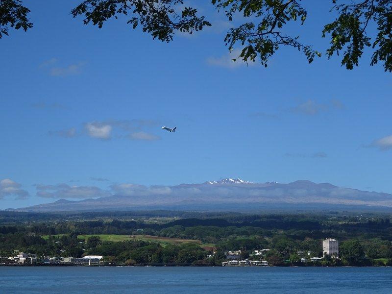 View from Hilo Bay towards Mauna Kea