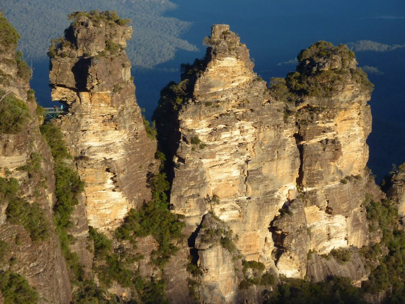 Three Sisters at sunset, Blue Mountains