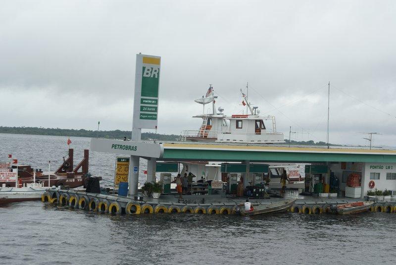 Floating petrol station, Manaus, Amazonia