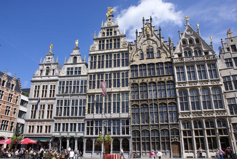 Facade at Grand Market, Antwerp