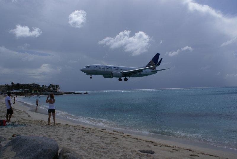 Plane at Maho Beach, Sint Maarten