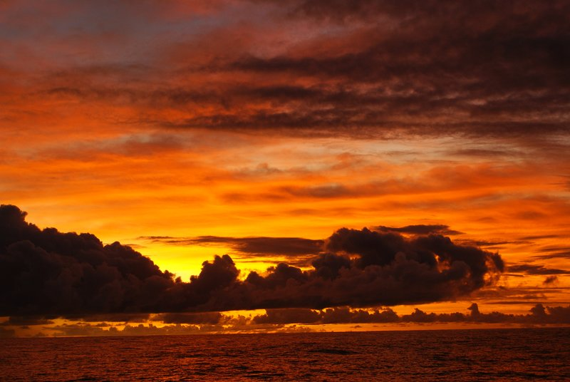 Sunset at Pitcairn Island