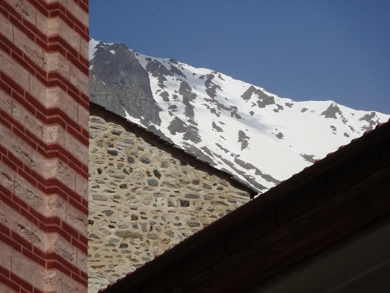 Snow above Rila Monastery