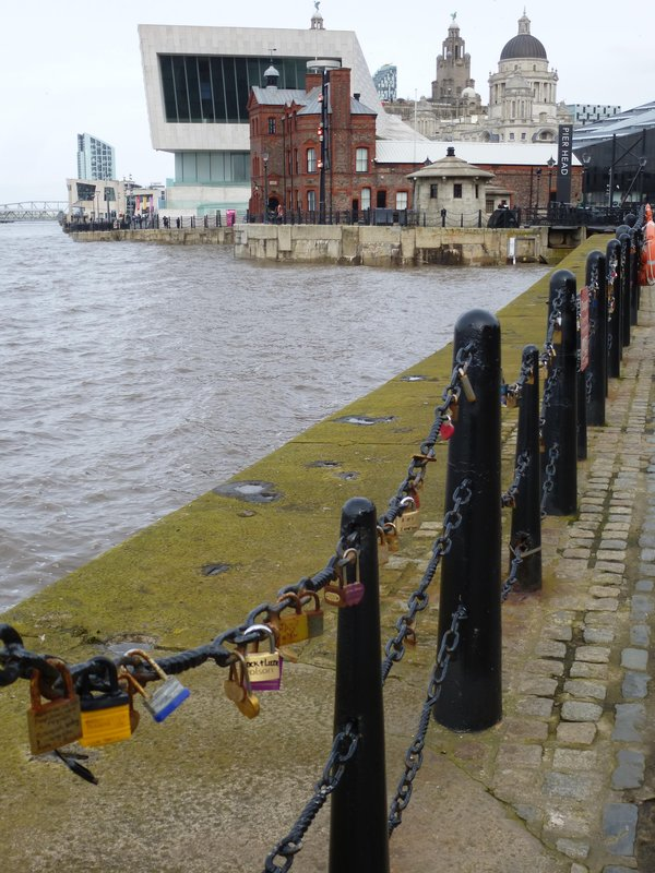Albert Dock along Mersey River