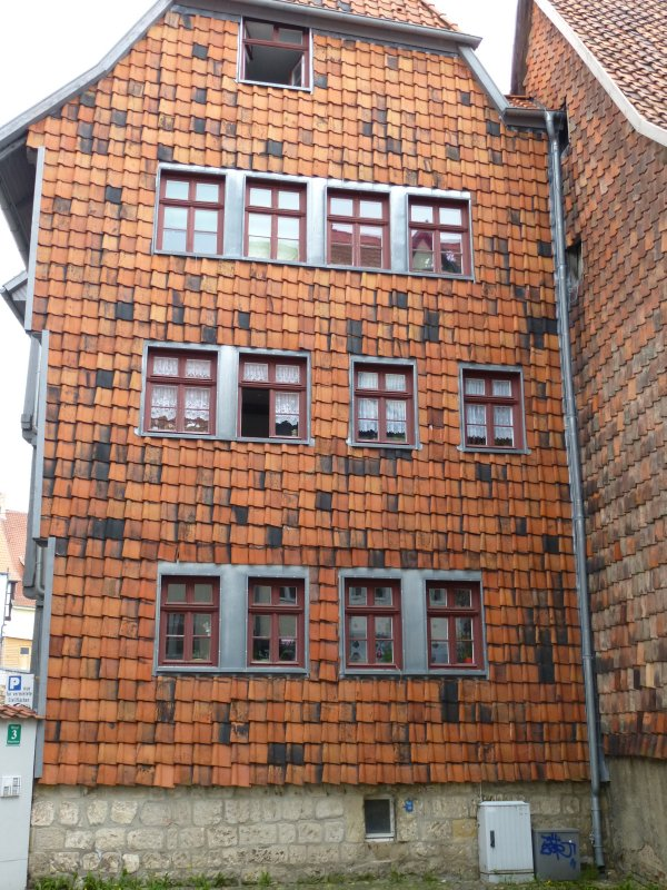 Wall of Roof Tiles