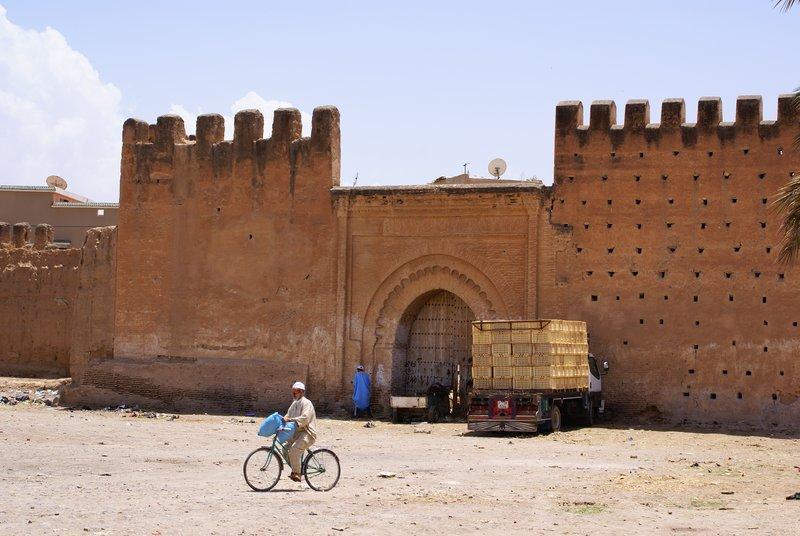 Lonesome biker in Taroudant