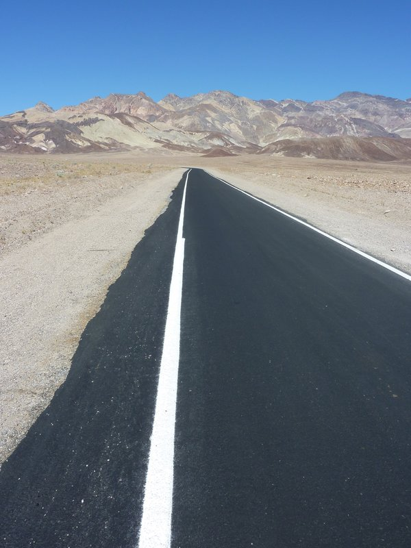 Lonely one-way road, Death Valley
