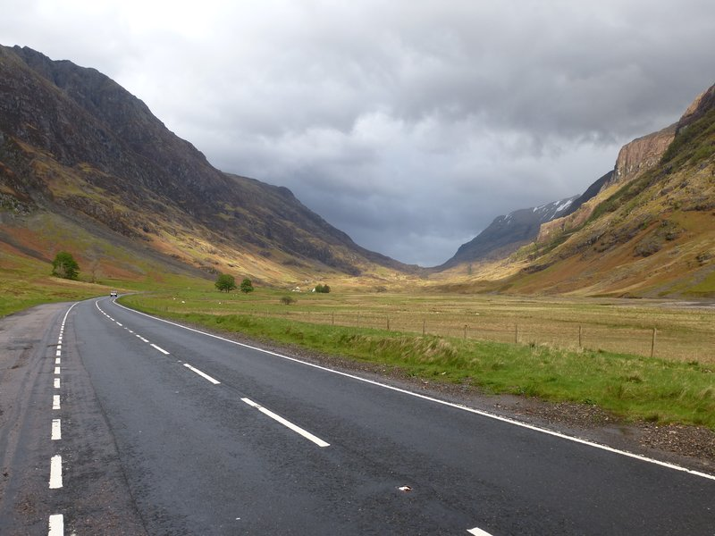 Road through Glen Coe